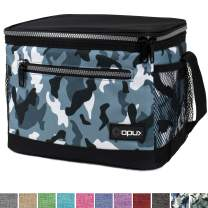 OPUX Premium Lunch Box, Insulated Lunch Bag for Men Women Adult | Durable School Lunch Pail for Boys, Girls, Kids | Soft Leakproof Medium Lunch Cooler Tote for Work Office | Fits 8 Cans (Green Camo)
