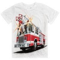 Shirts That Go Little Boys' Fire Truck T-Shirt