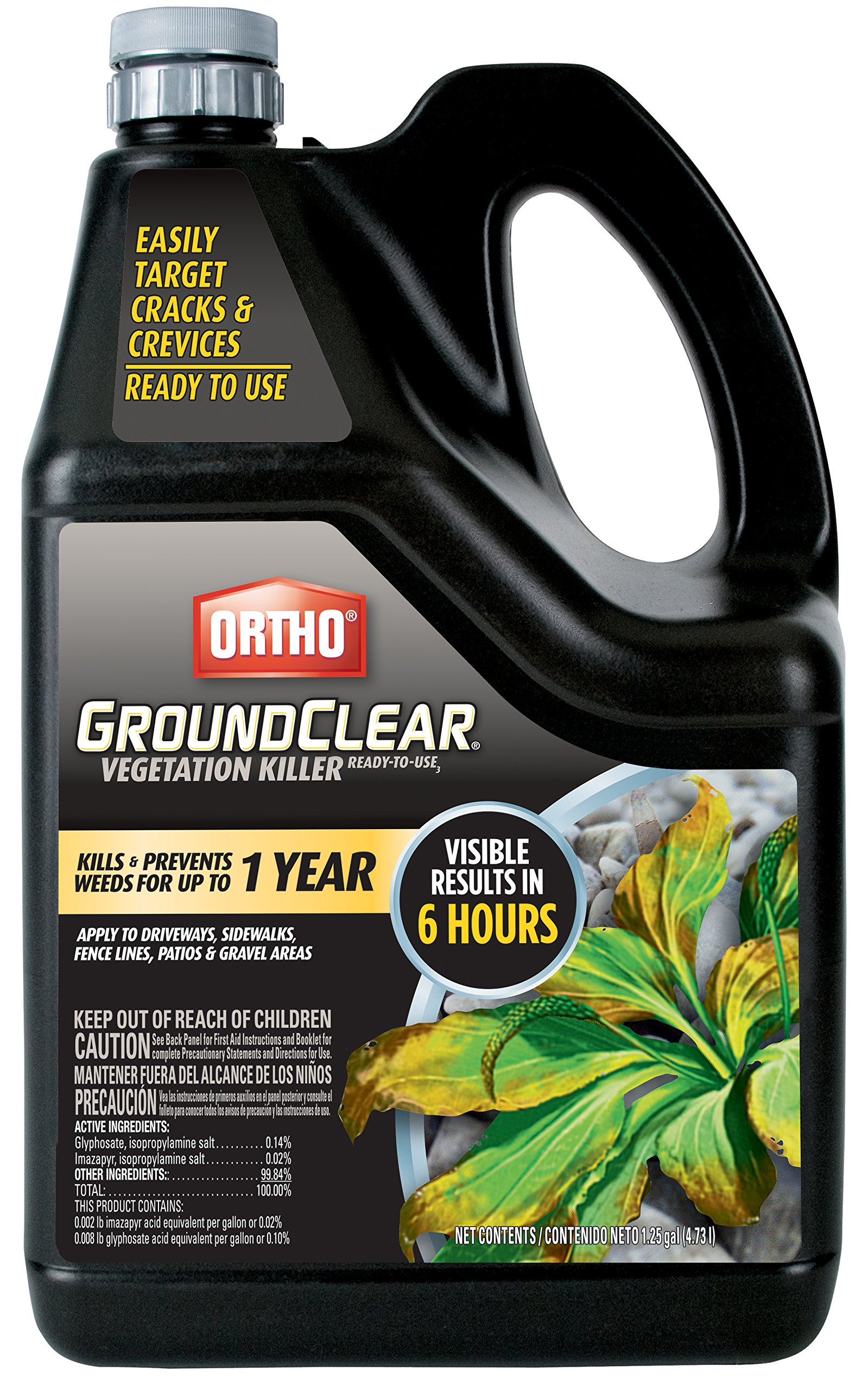 Ortho 0436604 Ground Clear Vegetation Killer Ready-to-Use Sprinkler Cap, 1.25 Gallon