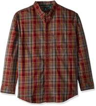 G.H. Bass & Co. Men's Big and Tall Madawaska Long Sleeve Button Down Plaid Shirt