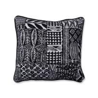 Pillow Perfect Imani Jet Throw Pillow, 16.5-inch, Black