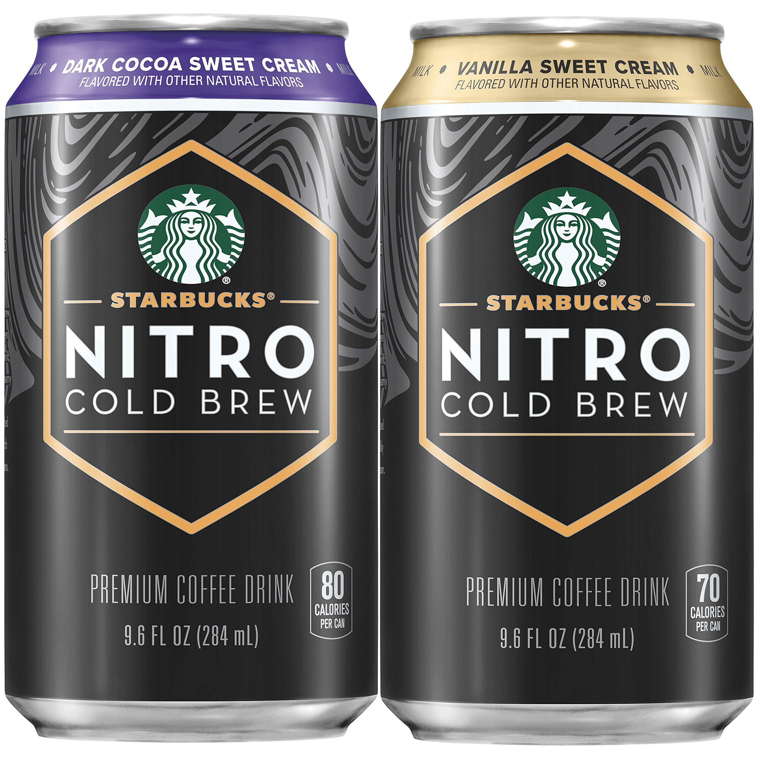 Starbucks Nitro Cold Brew, 2 Flavor Sweet Cream Variety Pack, 9.6 fl oz Cans (8 Pack)