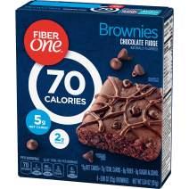 Fiber One Brownies, 70 Calorie Bar, 5 Net Carbs, Snacks, Chocolate Fudge, (pack of 8 - 6ct/pack)