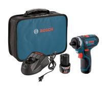 Bosch PS21-2A 12V Max 2-Speed Pocket Driver Kit with 2 Batteries, Charger and Case , Blue