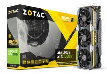 ZOTAC GeForce GTX 1080 Ti AMP Extreme Core Edition 11GB GDDR5X 352-bit PCIe 3.0 Gaming Graphics Card VR Ready (ZT-P10810F-10P)