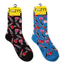 Foozys Women's Crew Socks | Fun Cool Style And Fashion Novelty Socks | 2 Pairs