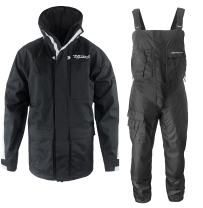 WindRider Pro Foul Weather Gear - Rain Suit - Jacket + Bibs - Breathable, Numerous Pockets, Mesh Lined for Comfort - for Fishing, Sailing, Outdoor Adventuring