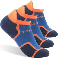 Forcool Running Athletic No Show Low Cut Cushion Tab Socks for Women and Men