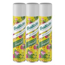 Batiste Dry Shampoo, Tropical Fragrance, 6.73 Fl Oz, Pack of 3