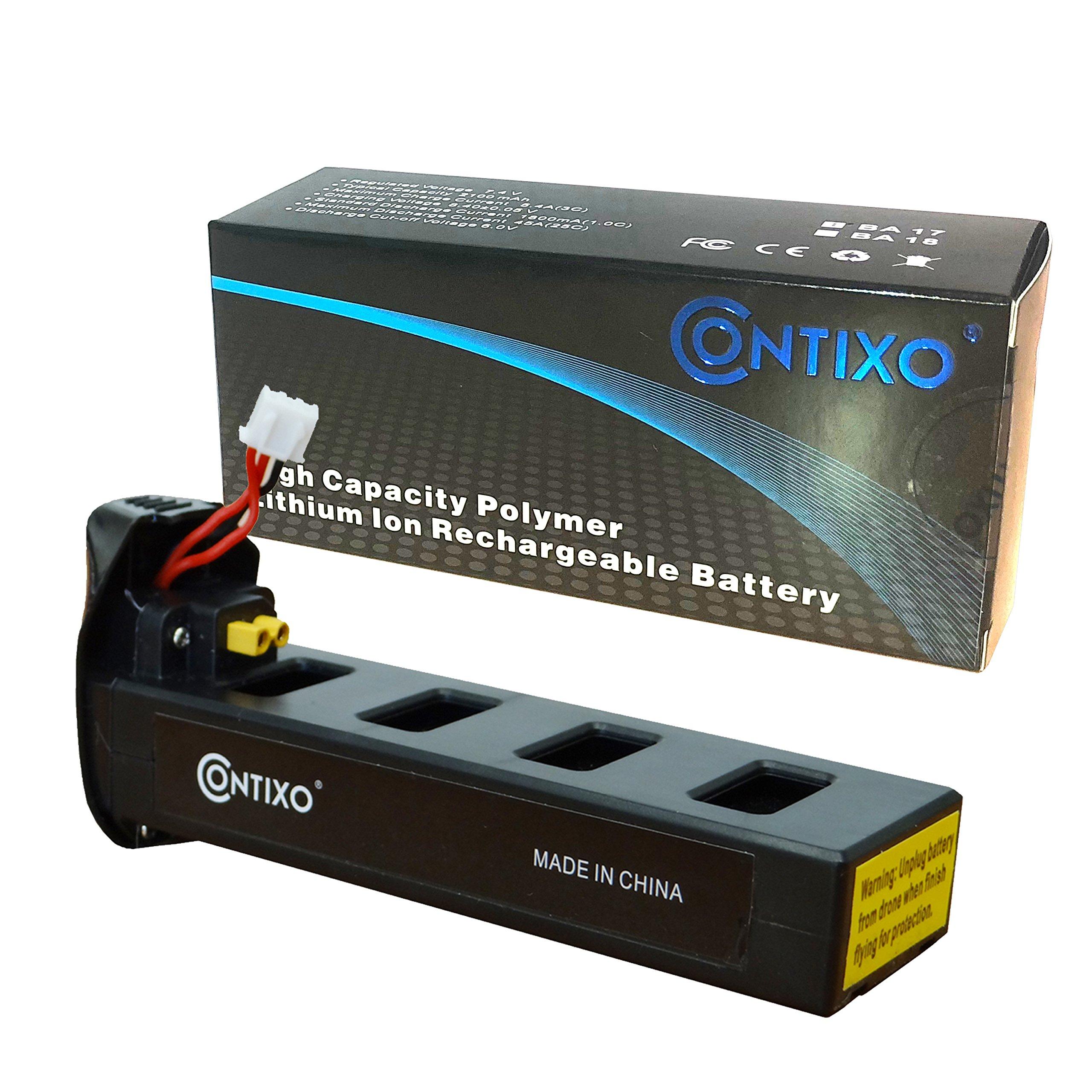 Genuine Contixo Rechargeable LiPo Battery - 7.4V 1800mAh LiPo Battery for Contixo F18 Quadcopter Drone (1-Pack)