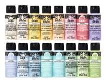 FolkArt Multi Surface Acrylic Paint Set 16 Piece PROMOMSP16 Pastel Colors, Count