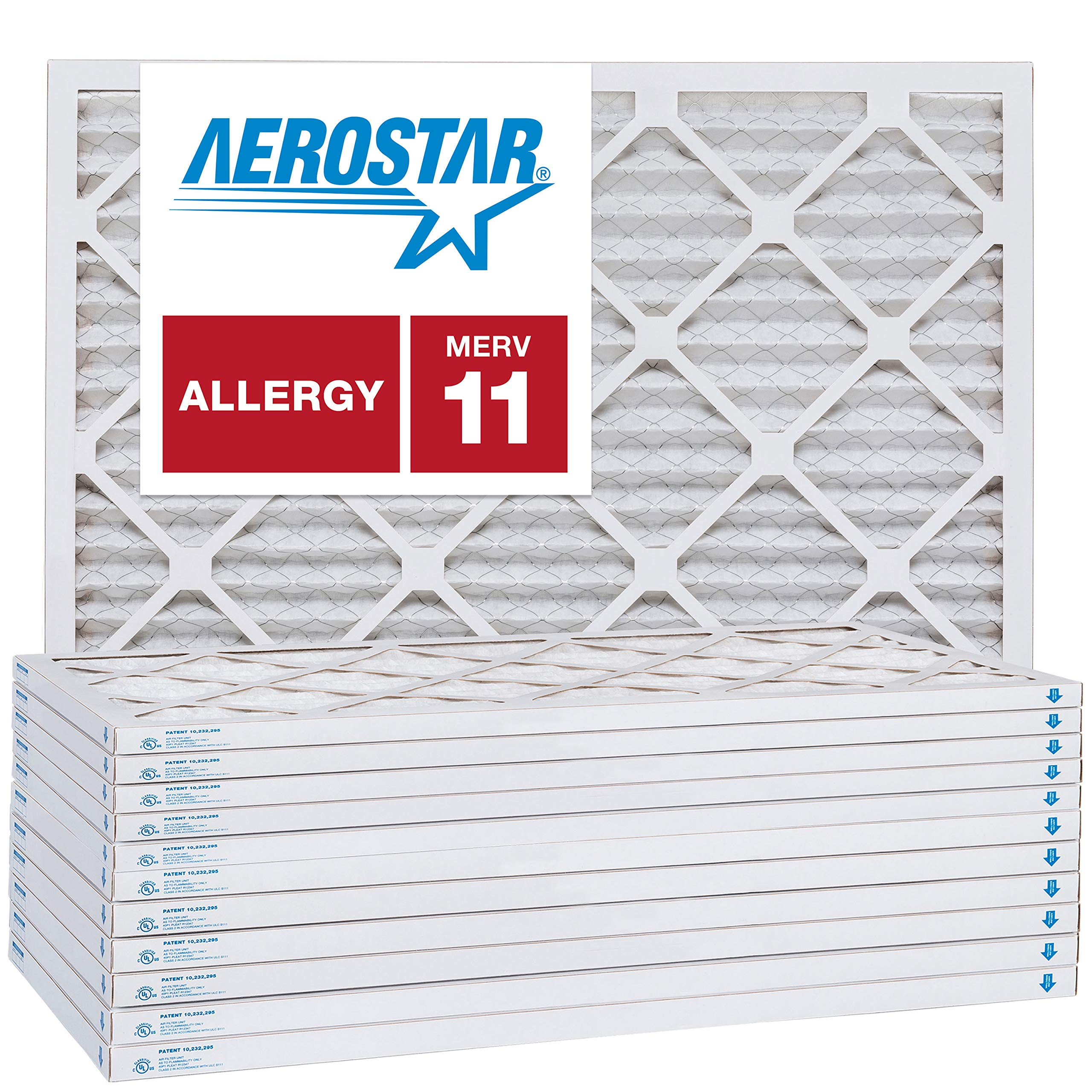 19 7/8 x 21 1/2 x 1 Carrier Replacement Filter by Aerostar - MERV 11, Box of 12