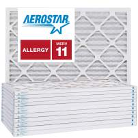 16x16x1 AC and Furnace Air Filter by Aerostar - MERV 11, Box of 12