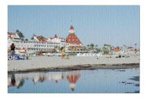 San Diego, California - Coronado Hotel & Beach 9020048 (19x27 Premium 1000 Piece Jigsaw Puzzle, Made in USA!)