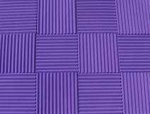 "Soundproofing Acoustic Studio Foam - Purple Color - Wedge Style Panels 12""x12""x1"" Tiles - 6 Pack"