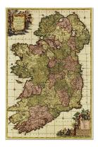 Ireland - (1750) - Panoramic Map (Premium 1000 Piece Jigsaw Puzzle for Adults, 19x27, Made in USA!)