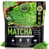 Zulay Matcha Green Tea Powder - Authentic Japanese Culinary Matcha Tea Powder Used for Lattes, Smoothies & Baking - Matcha Powder (40g starter size)