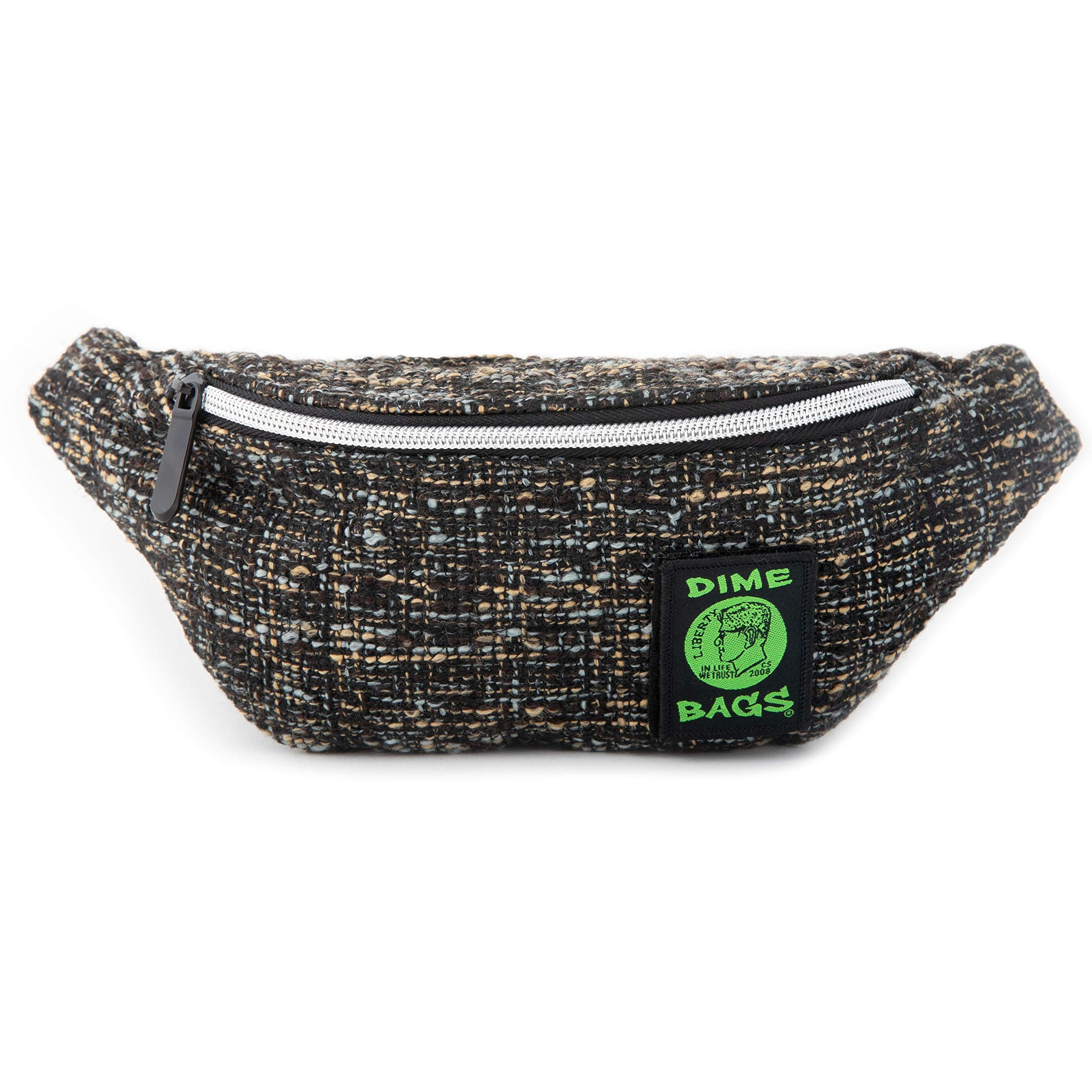 Dime Bags Stash Pack   Fanny Pack for Hiking, Running, and Workout   Hip Travel Bag for Men and Women   Hemp Hip Pack with Belt   Our Fanny Packs fit iPhone and Galaxy (Concrete)