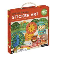 Petit Collage Mosaic Sticker Art Kit with Over 1000 Stickers, Animal Friends