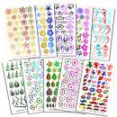 10 Beautiful Foil Shine Water Transfer Decal Sheets Nail Designs, (SheModern Creative Nail Arts) Set 1