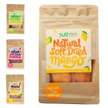 Yuthfarm – Soft Dried Mangoes 7oz On The Go Pack – Organic Dried Mango, Dried Fruit Snacks, Non GMO, No Artificial Flavor and Preservatives, Nutritious and Healthy Mango Snacks