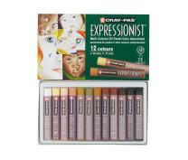 Sakura XLP12(SA) 12-Piece Cray-Pas Expressionist Multi Cultural Oil Pastel Set
