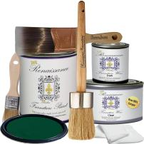 Retique It RFP-DSKit Renaissance Chalk Finish Paint, Deluxe Starter Kit, Viridian 48