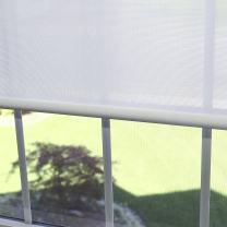 """Best Home Fashion Premium Linen Look Roller Window Shade - White - 25"""" W x 64"""" L"""