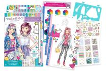 Make It Real - Fashion Design Sketchbook: Digital Dream. Inspirational Fashion Design Coloring Book for Girls. Includes Sketchbook, Stencils, Puffy Stickers, Foil Stickers, and Fashion Design Guide