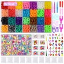 18000+ Loom Bands Kit: DIY Rubber Bands Kits , 500 Clips, 40 Charms,Loom Bracelet Making Kits for Kids, DIY Rainbow Bracelet Kit