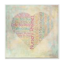 The Kids Room by Stupell Textual Art Wall Plaque, Nursery Rhymes Heart, 12 x 0.5 x 12, Proudly Made in USA