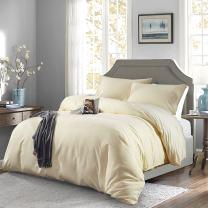 Oaite Duvet Cover,Protects and Covers Your Comforter/Duvet Insert,Luxury 100% Super Soft Microfiber,Twin Size,Color Cornsilk,2-Piece Duvet Cover Set Includes 1 Pillow Sham