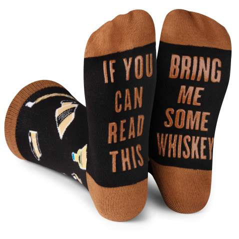 If You Can Read This .. Word Socks - Funny Socks - Novelty Socks Bring Me Bourbon