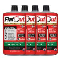 FlatOut 20124 Tire Additive (Outdoor Power Equipment Formula), for Lawn Mowers, Small Tractors, Wheelbarrows, Woodchippers, Snow Blowers and More, 128. Fluid_Ounces, 4 Pack