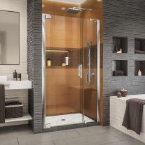 DreamLine Elegance-LS 44 - 46 in. W x 72 in. H Frameless Pivot Shower Door in Chrome, SHDR-4334120-01