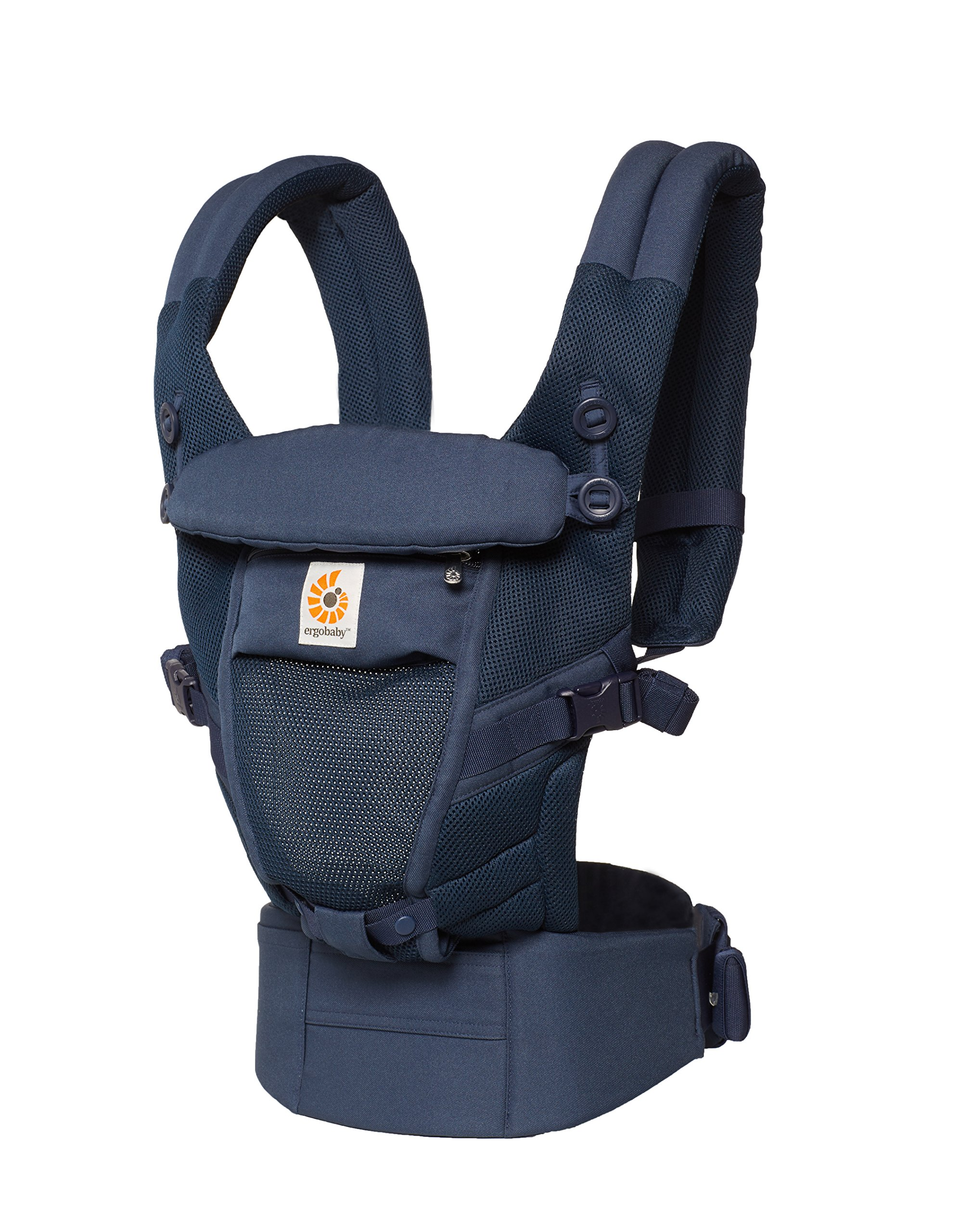 Ergobaby Adapt Baby Carrier, Infant To Toddler Carrier, Cool Air Mesh, Multi-Position, Deep Blue