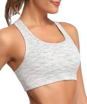 Oalka Women's Racerback Sports Fitness Support Workout Running Bras