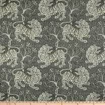 P Kaufmann Lion Dance Canvas Fabric, Teak, Fabric By The Yard