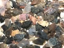 "Arrowhead Agate Stones, Replica Modern Carved Pieces ~1.25"" (10)"
