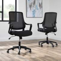 HON BASYX Helium Commercial-Grade Light Task Chair, Office Chair, in Black (BSX100VA10T)