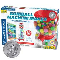 Thames & Kosmos Gumball Machine Maker Lab - Super Stunts & Tricks | Build Your Own Gumball Machines with Lessons in Physics & Engineering | 12 Experiments | Includes Delicious Gumballs | Award Winner
