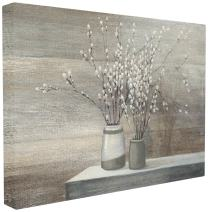Stupell Industries Pussy Willow Still Life XXL Stretched Canvas Wall Art, Proudly Made in USA