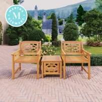 Martha Stewart Beeches 3-Piece Bistro Set, with Natural Wood Look Finish