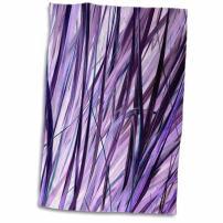 "3D Rose Print of Purple Swaying Grasses Hand Towel, 15"" x 22"""