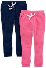 Carter's Girls' Big 2-Pack French Terry Jogger