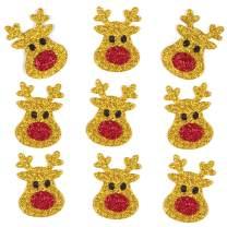 Baker Ross Reindeer Stickers Christmas Glitter Stickers (Pack of 100)