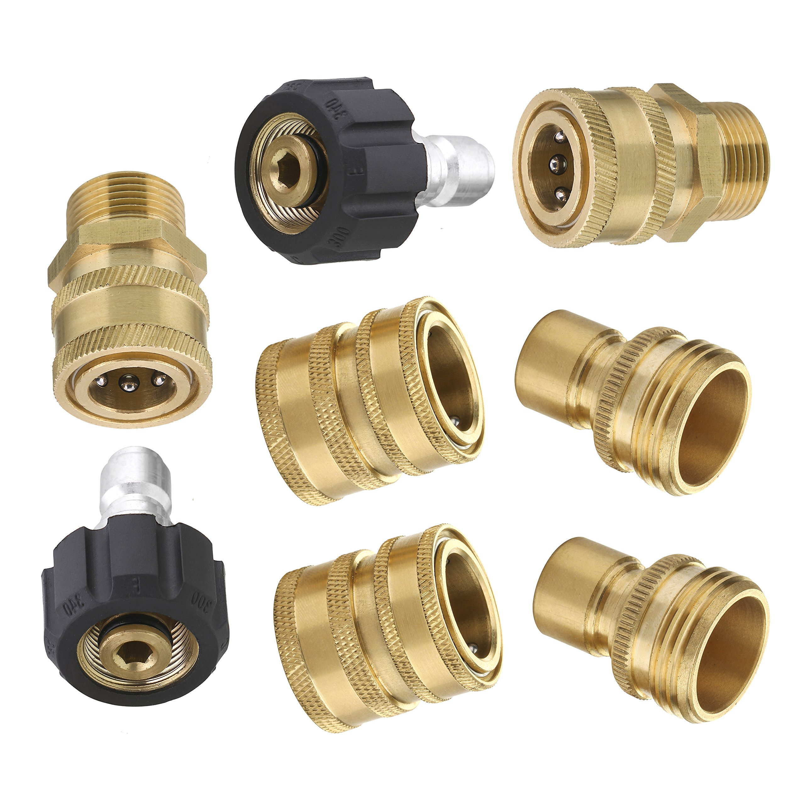 NPT 3//8 Quick Connect Fitting Pressure Washer Coupler Connector Adapter Set