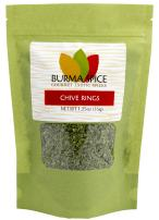 Chive Rings | Dehydrated Version of Chopped Chives | Mild Onion Flavor and Aroma | Fines Herbes of French Cuisine 1.25 oz.