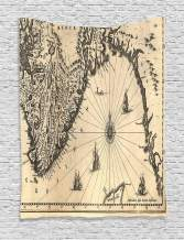 Wanderlust Decor Tapestry by Ambesonne, Ancient Map of Southern Part of the Norway Vikings World Scandinavian Lands Print, Wall Hanging for Bedroom Living Room Dorm, 40X60 Inch, Beige Charcoal Grey