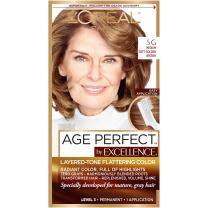 L'Oreal Paris ExcellenceAge Perfect Layered Tone Flattering Color, 5G Medium Soft Golden Brown (Packaging May Vary)